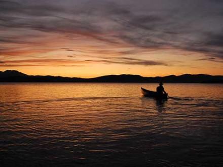 Circuit Yukon en Canoë Kayak - coucher de soleil
